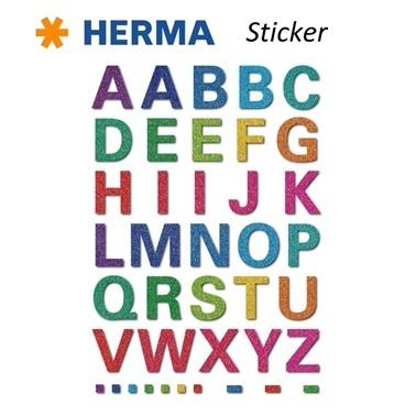 Herma Çocuk Etiketleri Renkli Harfler Renkli